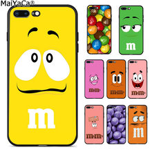 MaiYaCa cute pink M&M's Chocolate Candy Color Phone Case Back Cover for iphone 11 pro 8 7 66S Plus X 5S SE XS XR XS MAX Cover(China)