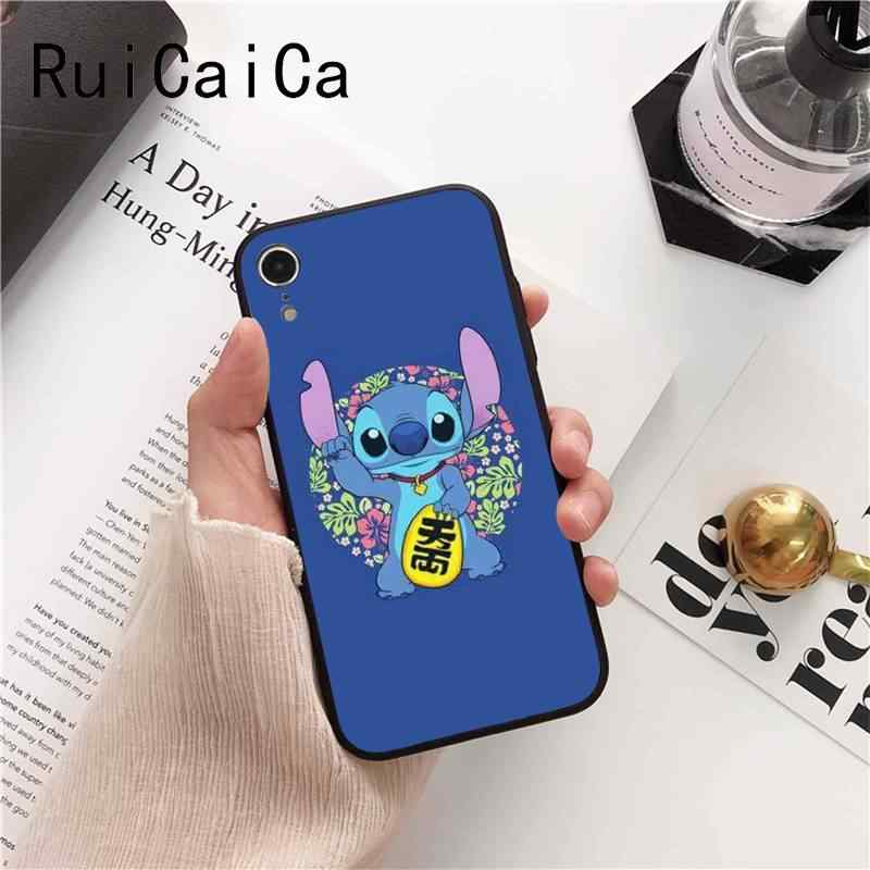 Ruicaica hoạt hình dễ thương Lilo Stitch Cao Cấp Thiết Kế Độc Đáo PhoneCase cho iPhone 8 7 6 6 S 6 Plus 5 5S SE XR X XS MAX Coque Vỏ