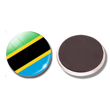 The United Republic of Tanzania Flag 30 MM Fridge Magnetic Tanzania Glass Dome Refrigerator Stickers Note Holder Home Decoration(China)