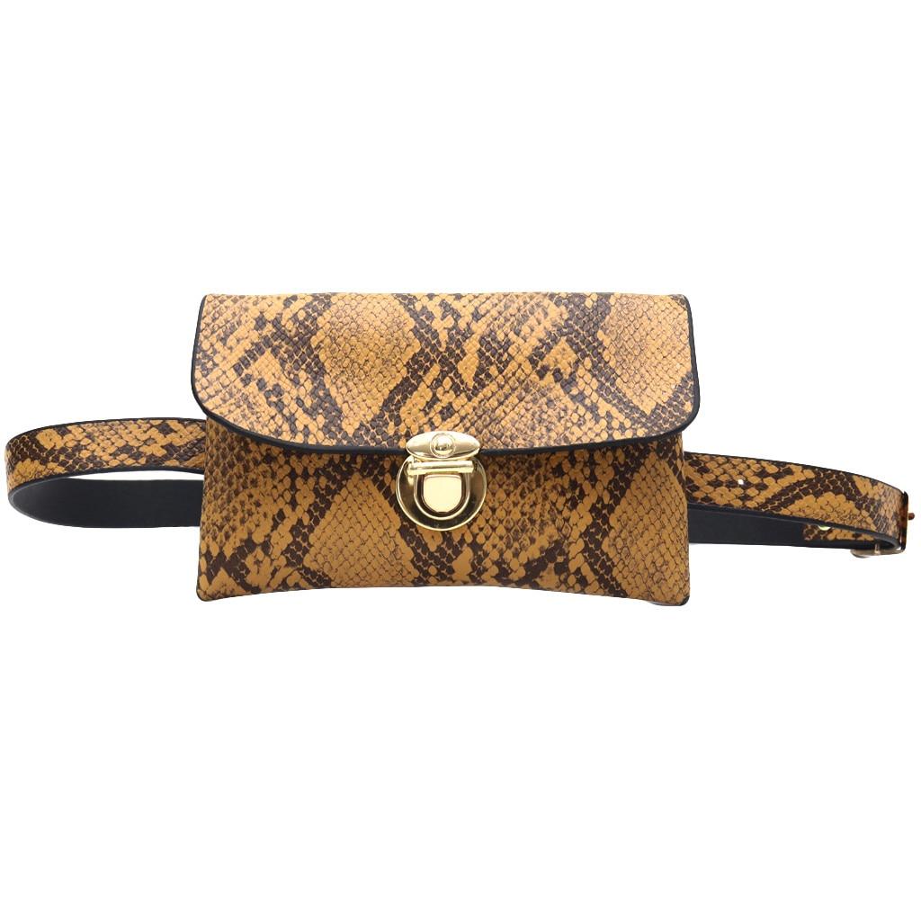 Women Retro Serpentine Vintage Leather Messenger Bag Crossbody Bags Chest Bags Travel Cashier Belt Boys Girl Bag Hot Sale #R5