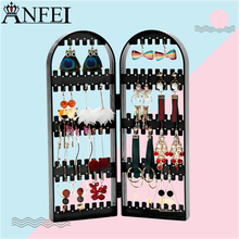 Anfei New Arrival Earring Storage Stand Plastics Jewelry Organizer Holder Jewelry Display Stand Earrings Rack Ornaments A233