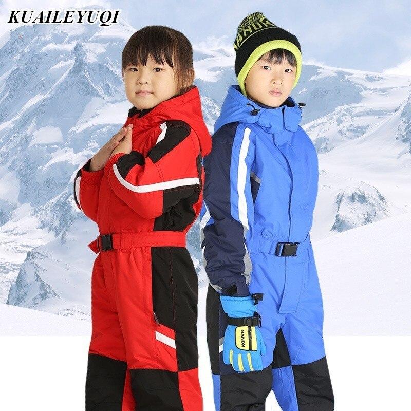 Nouveau enfants enfants ski Snowsuit combinaison snowboard ski veste manteau filles vêtements garçon sportswear hiver pantalon ensemble costume vêtements