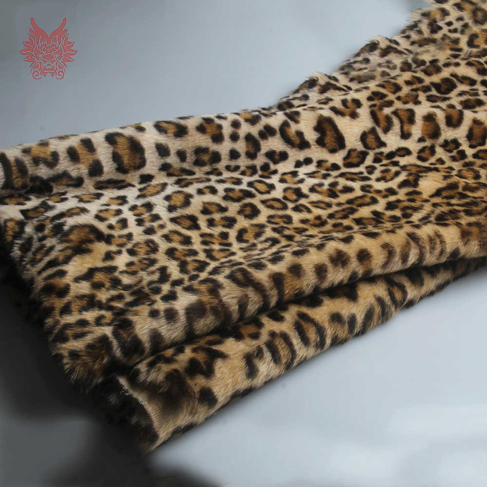Tela de piel de visón de imitación de leopardo marrón de lujo para abrigo recién nacido accesorios de fotografía tissu accesorios de bricolaje envío gratis SP5302