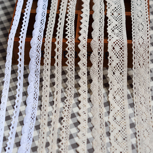 The New 5 Yards / Many High Quality White Lace Cotton Lace Sewing Home Furnishing Garment Accessories DIY Material