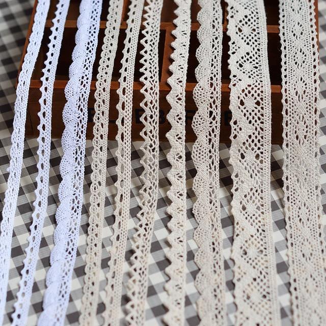 Die neue 5 yards/viele hohe qualität weiß spitze baumwolle spitze nähen Von Einrichtungs bekleidungs zubehör DIY material