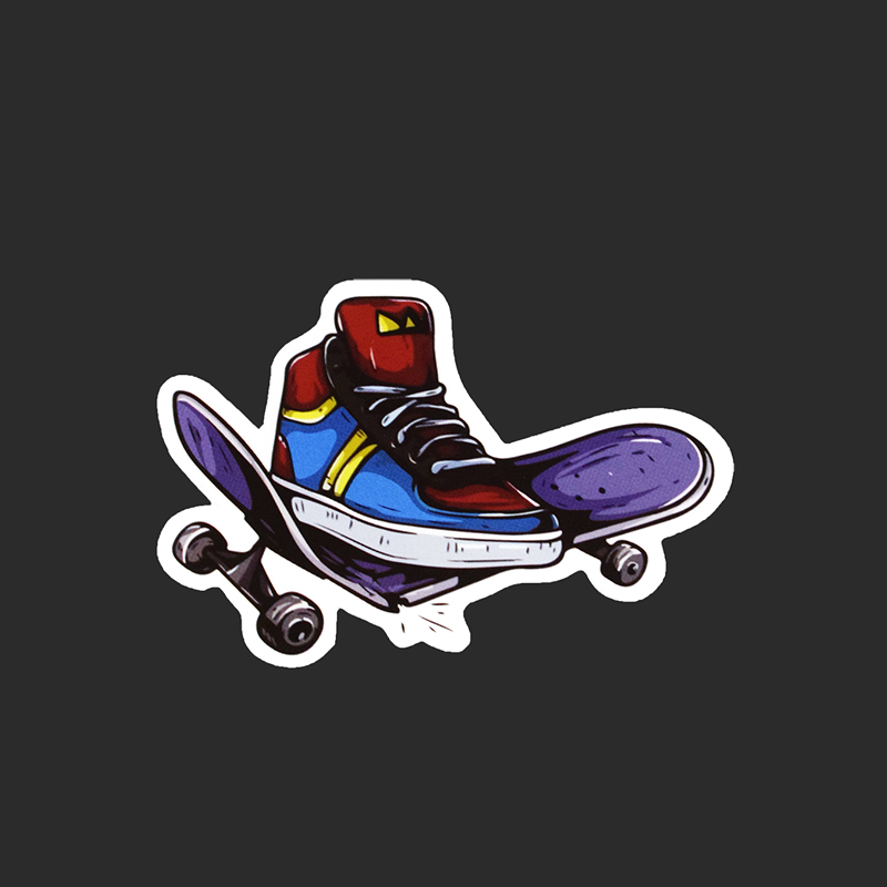 Creativity Cool skateboard Tied Brand Stickers Luggage Fridge Skateboard Waterproof Young Girl Sticker Car Styling Decal A89