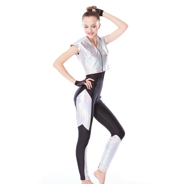 Ropa de gimnasia estilo moderno hip-hop Jazz Dance vestido competición  deportiva Weare Lotard 35a4cc0514a