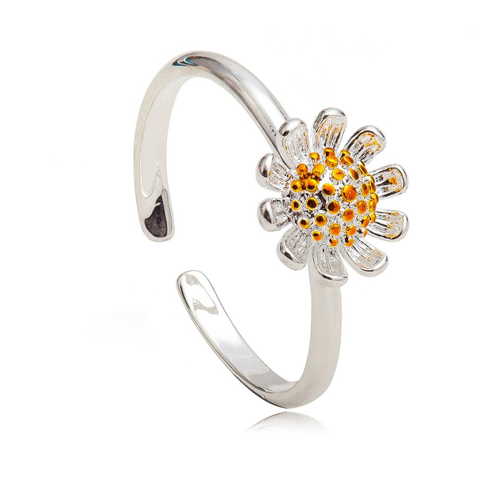 1pc lovely Sun Flower Silver Alluring Wonderful Lady Womans Ring