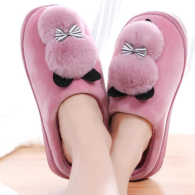 f555771c9fc Cute women house slippers winter home animal funny shoes woman warm 2019  new arrival non-