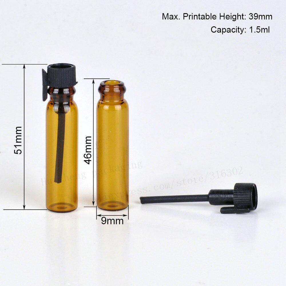 500 x 1 5ml Empty Mini Glass Perfume Vials Small Sample Perfume Bottles Laboratory Liquid Fragrance Test Tube Trial Bottle in Refillable Bottles from Beauty Health