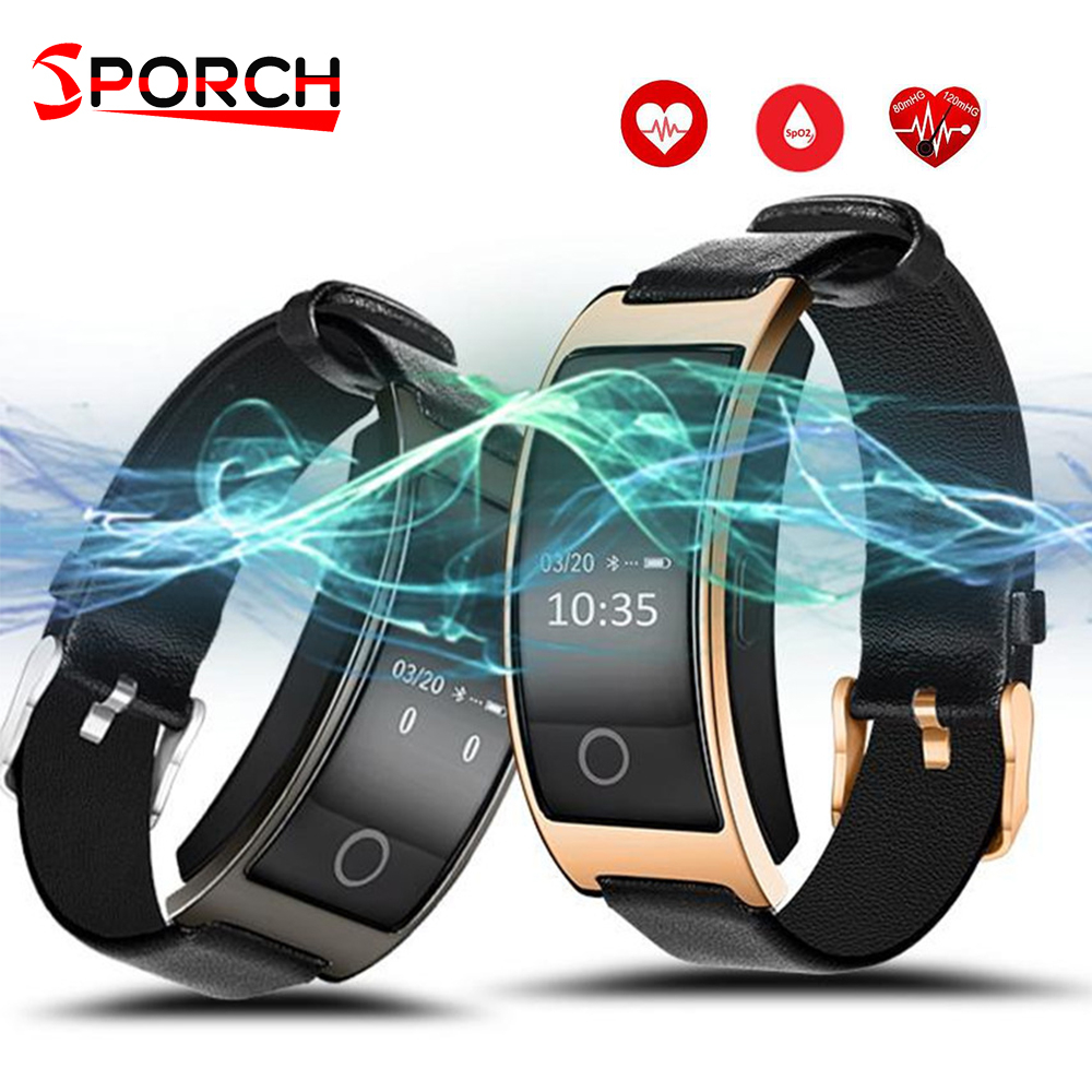 Sporch CK11S Smartband Blood Pressure Watch Blood Oxygen Heart Rate Monitor Smart Bracelet Pedometer IP67 Waterproof Wristband