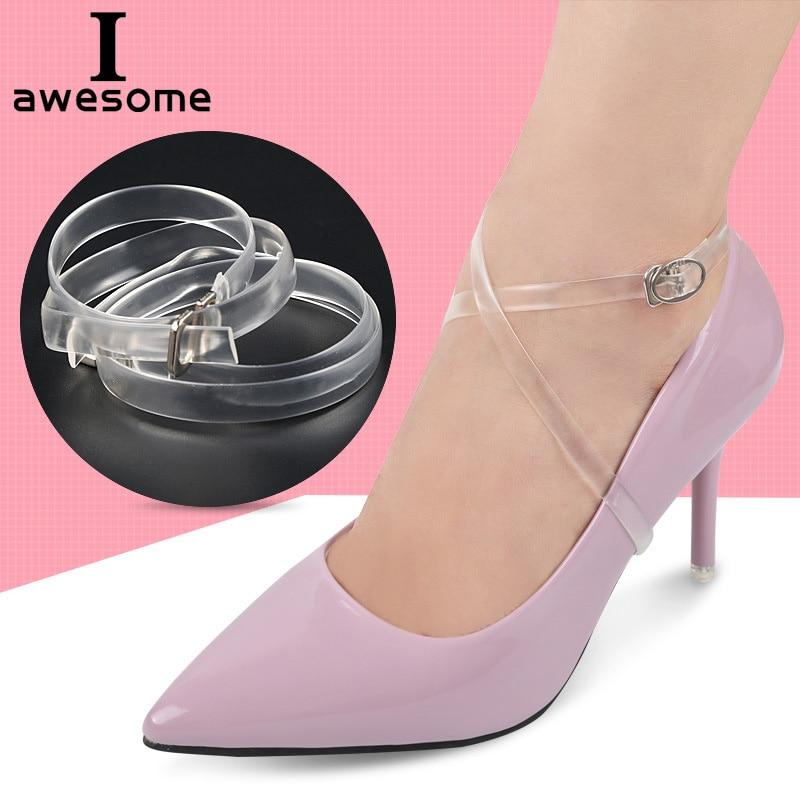 1 Pair Fashion Design High Quality Charm Women Convenient Silicone Detachable Shoes Belt Ankle Shoe Tie Lady Strap Lace Band