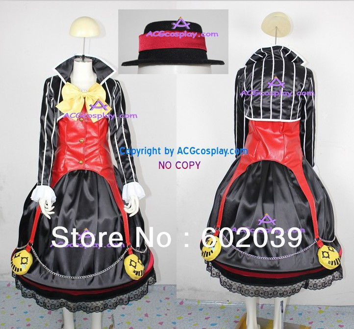 Dungeon Fighter Online Mage Cosplay Costume include petticoat and hat