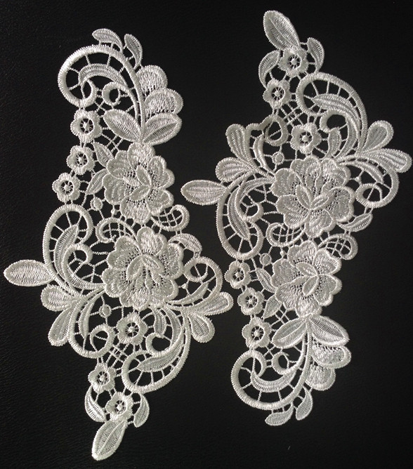 Cm polyester mirrored thick embroidery flower