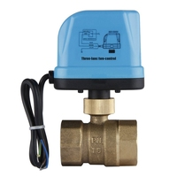 1pcs 2 Way Zone Two way Valve Motor Ball Electric Valve 220V DN25 (G1.0inch) Reversing Valve with LED Lamp