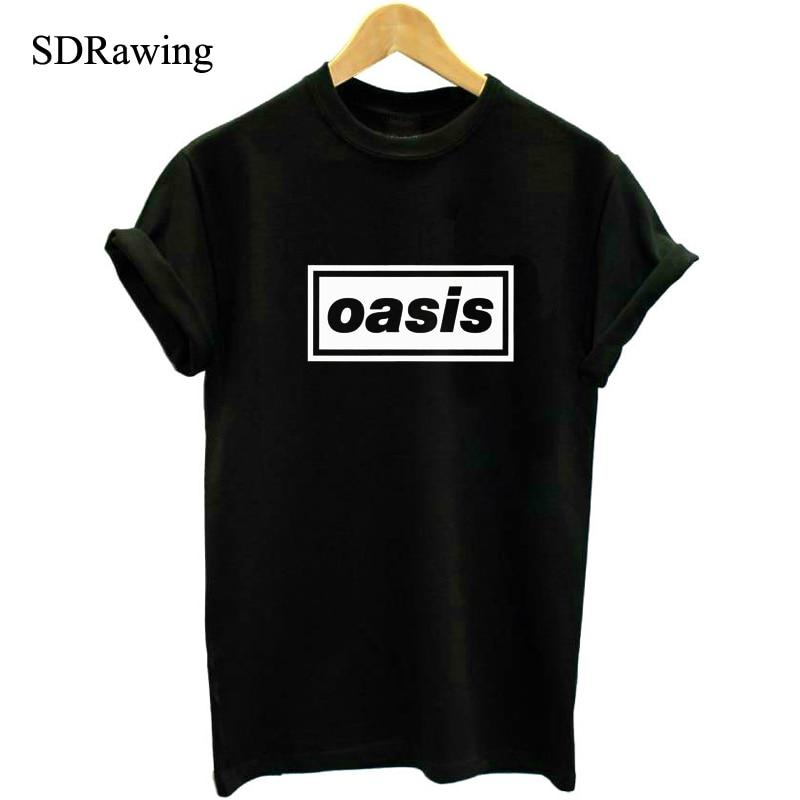 OASIS המותג לא חולצות Top tees חולצות מוזיקה - בגדי נשים