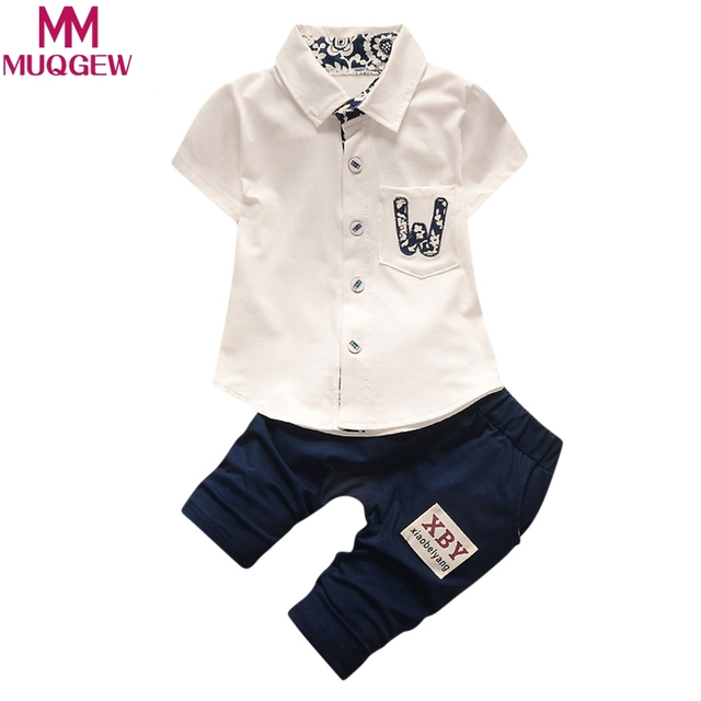 e59963bf486 MUQGEW Infant Baby Boys Girls Letter Pocket T-Shirt Tops Pants 2Pcs Set  Outfits Clothes hoodies sweatshirts for girls kids Baby