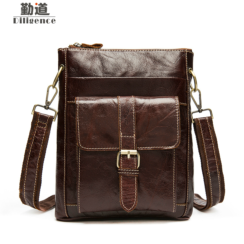 Messenger Bag Leather Men Bag Genuine Leather Shoulder Bags Small Zipper Casual Crossbody Bags for Men bolsas male Flap neweekend genuine leather bag men bags shoulder crossbody bags messenger small flap casual handbags male leather bag new 5867