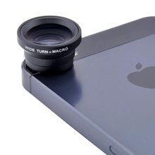 3 in 1 Magnetic Fisheye Mobile Phone Lens + Wide Angle + Macro For iPhone 5 6 Pl