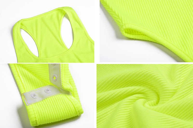 Simenual однотонные пикантные Летние Боди для женщин неоновый цвет майка с рукавами Мода 2019 одна деталь повседневное узкие боди