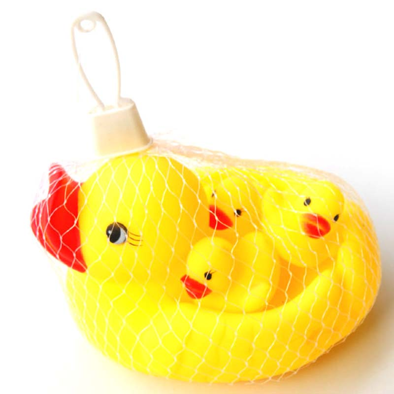 Hot Sale Duck Baby Shower Water Toys For Baby Kids Children Birthday Gift Toy  Cute Baby Kids Rubber Free Shipping