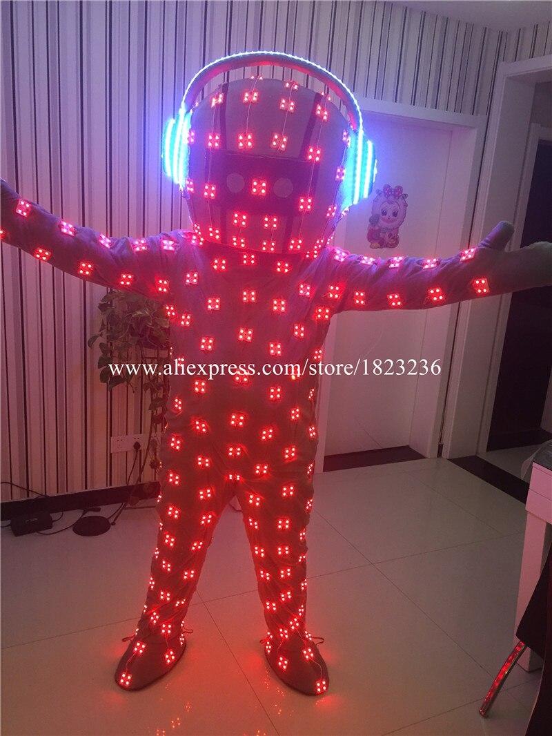 Volle Farben LED blinkend leuchtend leuchten Kostüm Kleidung - Partyartikel und Dekoration - Foto 2