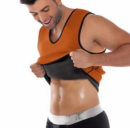 Black Neoprene Weight Loss Mens Body Shapers Vest Slimming Fitness Waist Tops Sweat Shapwear Shirts Hot Plus Size M-4XL 2