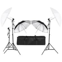 3*45W Photography Photo Video Portrait Studio Day Light Umbrella Continuous Lighting Kit