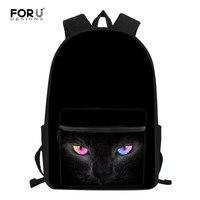 FORUDESIGNS Kurt Desen okul çantası Siyah okul sırt çantası Çocuk Çocuk Öğrenci Sırt Çantası Ortopedik Kitap Çantası Çantası Mochila