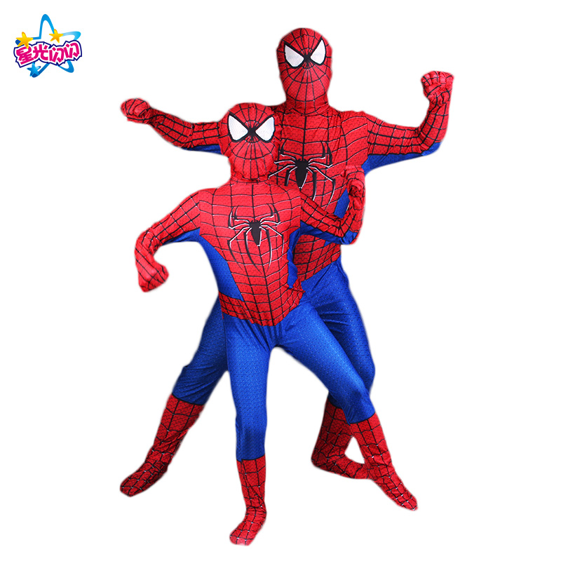 Free Shipping Red  Spiderman Costume Spider Man Suit Spider-man Costumes Adults Children Kids Spider-Man Cosplay Clothing
