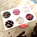 6pcs/lot Mixed color Home Button Sticker for Iphone 5 5s 6 6S 6plus Cute Mobile Phone Accessories Phone Stickers