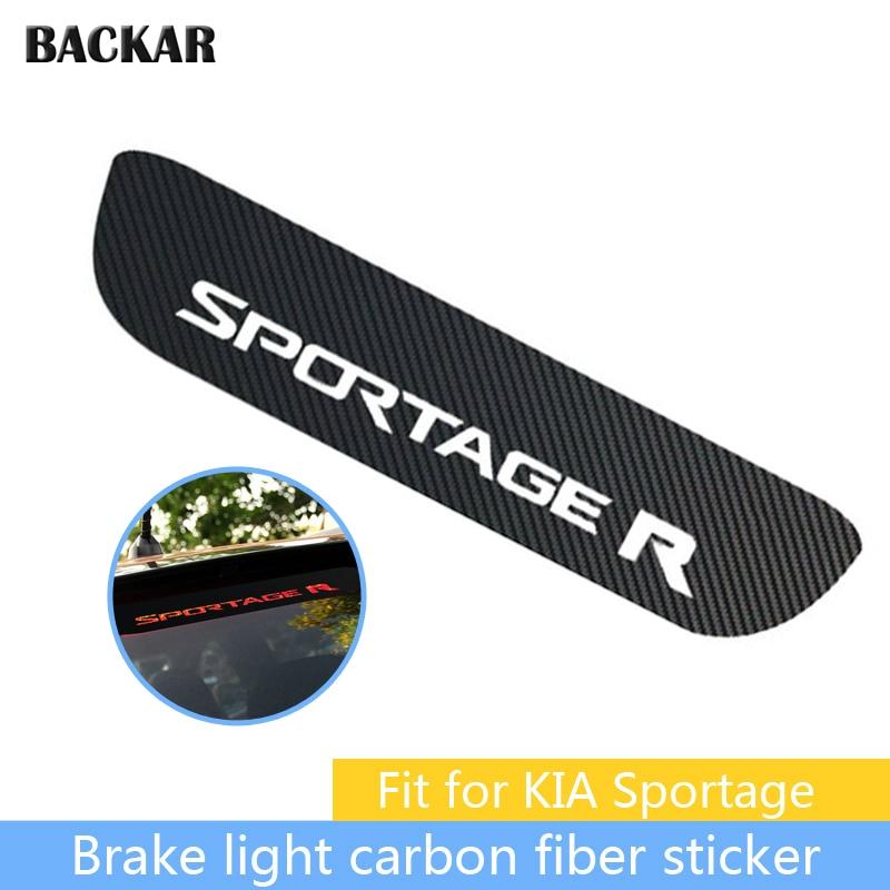 Car-styling 3D Carbon Fiber Emblems Stickers For KIA Sportage R 2011 2012 2013 2014 2015 2016 Auto High Brake Light Accessories