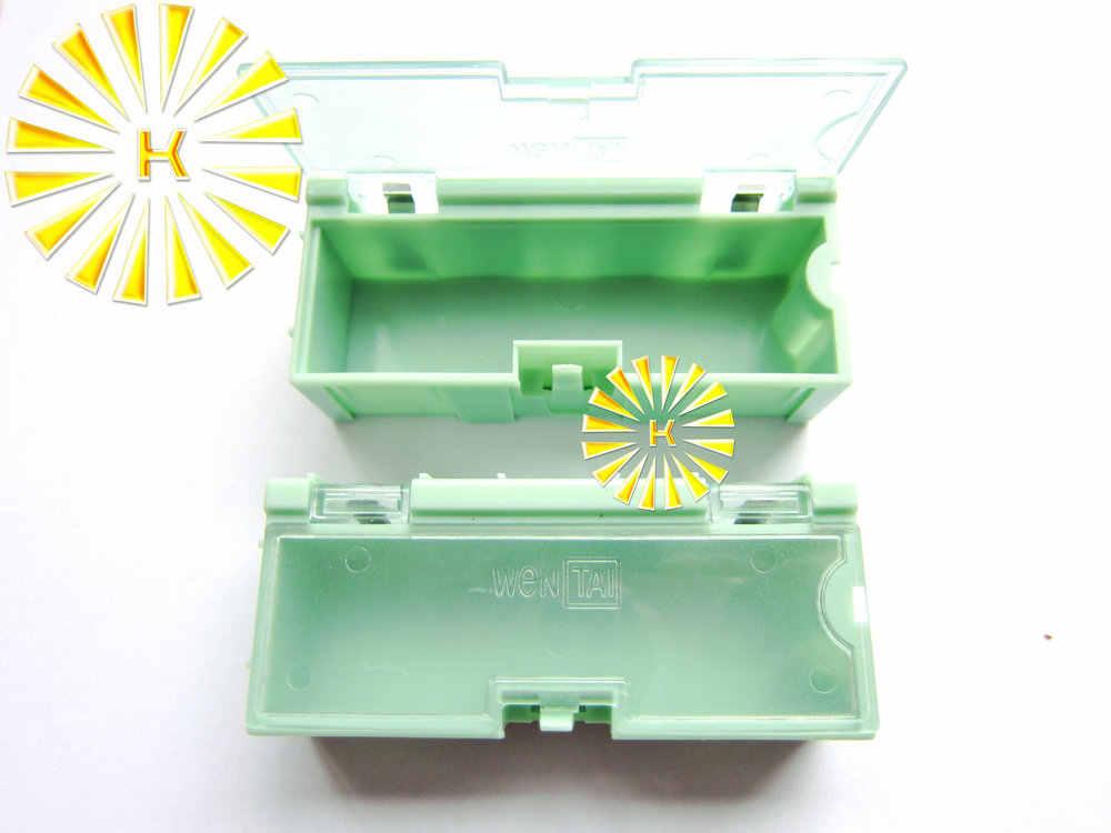 50 יחידות x #2 צבע ירוק הנגד קבלים SMT רכיב אלקטרוני מיני קופסא אחסון תכשיטים מעשית מאוחסן מקרה