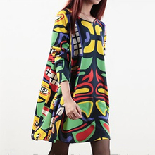 Spring Autumn Winter Clothes Maternity Dresses Korean For Pregnant Women Doodle Plus Size Print Long Sleeve Pregnancy Clothing