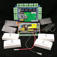 Tcp/ip сеть L04 Интеллектуальный Четыре двери комплект контроля доступа панель доступа + блок питания + 4 шт. rfid карты читатель