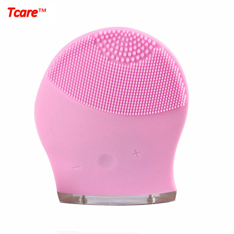 Tcare Rechargeable Beauty Ultrasonic Electric 3D Facial Cleaning Cleaner Brush Massage Face Cleansing Brush Massager electric 3d silicone massage ultrasonic facial cleansing brush beauty instrument pores cleaner face vibration spa usb recharge