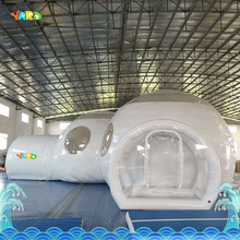 PVC white play house bubble tent commercial with toilet with sea shipping