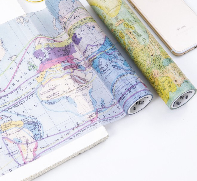 Travel And Maps Creative Vintage Fashion Wide Washi Tape 20cm*5M DIY Journal Diary Deco Supplies 2018 New 1pcs vintage times design high quality washi tape 10cm 5m diy journal diary decoration supplies gift free shipping