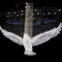 Eagles настроить дизайн Роскошные светодио дный хрустальные люстры блеск люстра свет лампы Cristal L100 * W55 * H80cm 110 В 220 В