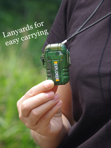 Image 5 - Nowy USB w osoczu podwójny łuk na zewnątrz Camping lżejszy akumulator wodoodporny elektroniczny zapalniczki Pulse krzyż Thunder zapalniczki