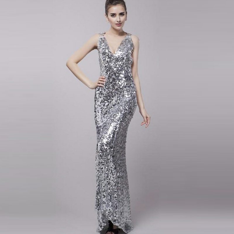 Black and Silver Prom Bridesmaid Dresses