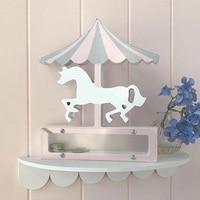 Wood Unicorn Piggy Bank Nordic Style Merry Toy Carousel Horse Decoration Transparent Money Boxes Saving Kids Home Decor WZL040