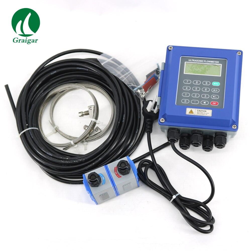 Débitmètre à ultrasons numérique mural débitmètre à ultrasons liquide TUF-2000B avec capteurs de TM-1 DN50-DN700mm