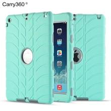 Caso para el ipad de Aire 1, Carry360 Hijos Seguros A Prueba de Golpes Armor Híbrido Heavy Duty de Silicona Caso de Goma para Apple iPad Aire 1/5
