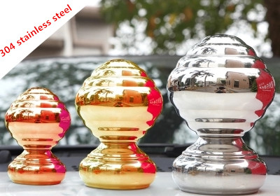 1pcs stainless steel hollow ball stainless steel 304 decorative mirror sphere mirror sphere stanless steel garden sphere gloden 304 stainless steel hollow ball steel ball ball ornaments decorative titanium balls 80 90 100mm 3pcs