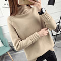 DRL Brand 2017 Women Sweater Women fashion Slim Solid Autumn and Winter Knitted Warm Turtleneck Pullover Women Sweater