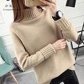 DRL Marca 2017 Mujeres Suéter Mujeres moda Delgado Sólido del Otoño y el Invierno de Punto Caliente de Cuello Alto Suéter Suéter de Las Mujeres