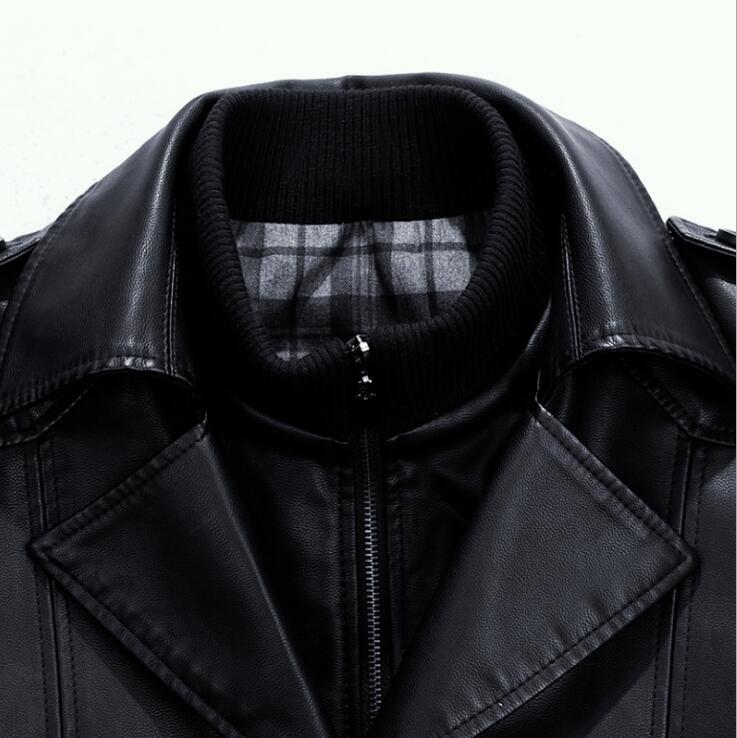 M Business Graben Casual Jacke Größe 4xl Schwarzes Leder Schaffell Lange Winter Mode Plus Warme Kleidung Männer Mantel Herren Neue Langen gBSwqTS