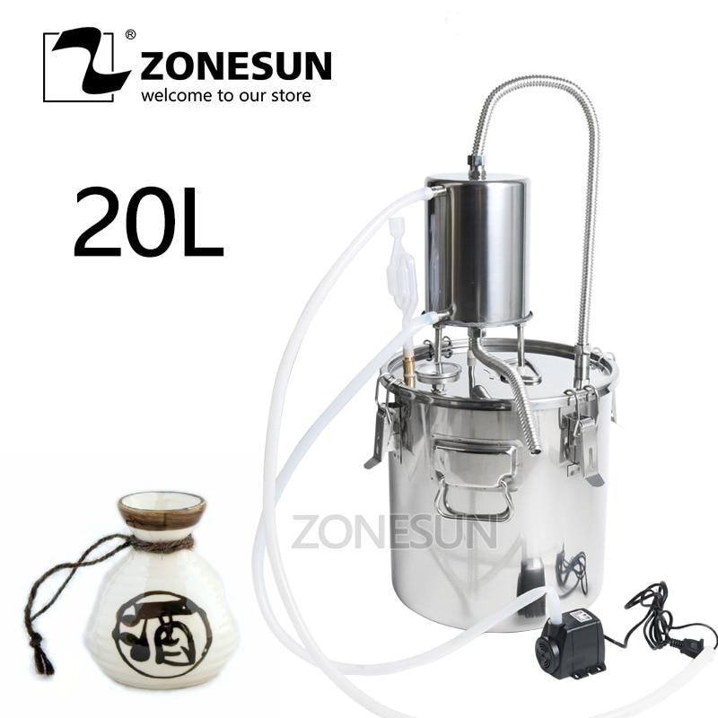 Wine Beer Alcohol Water Distiller Moonshine Mini Home Rose Water Essential Oil Alkol DIY Brewing Kit