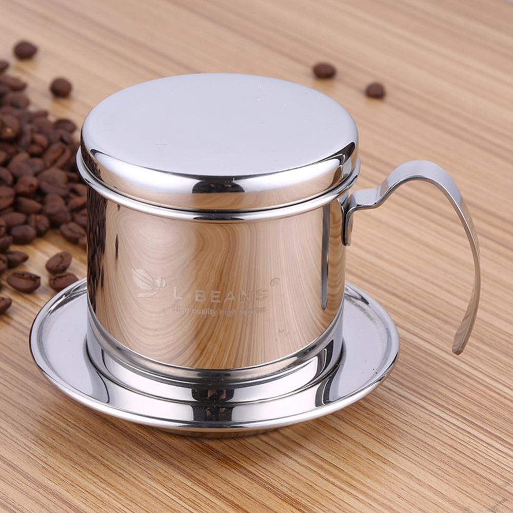 <font><b>Portable</b></font> <font><b>Stainless</b></font> <font><b>Steel</b></font> <font><b>Vietnam</b></font> <font><b>Coffee</b></font> <font><b>Dripper</b></font> Filter <font><b>Coffee</b></font> Maker High Quality Drip <font><b>Coffee</b></font> Filter Pot Filters Tools image